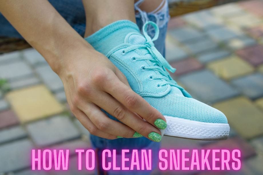 cleaning canvas sneakers using vacuum cleaner vinegar and toothbrush
